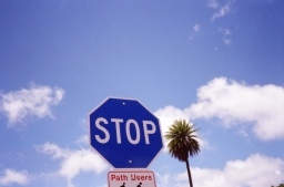 Blue Stop Sign?